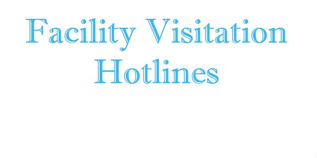 facility visitation hotlines banner