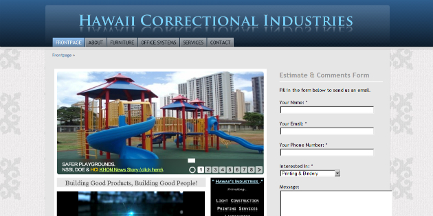 Hawaii Correctional Industries Website