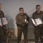 "Two Sheriff Deputies and their Deputy Sheriff canines were recognized by the United States Postal Inspection Service today for their role in ""Operation Club Shabu."""
