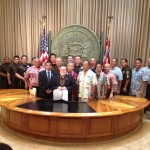 Governor Neil Abercrombie held special ceremony today to highlight the signing of Act 137