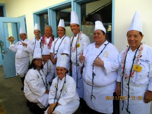 Culinary students and teachers
