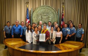 Governor Ige and Corrections Staff