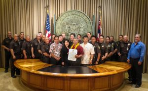 Governor Ige and Sheriff Staff