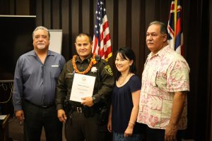 Sergeant Fukumoto with Administrators